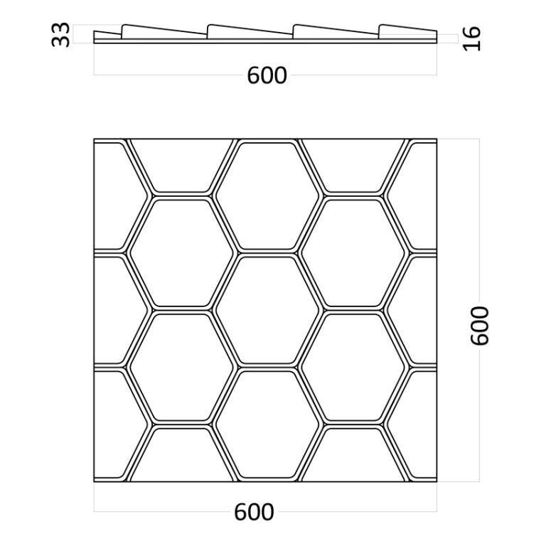 Artpole BEE - гипсовые 3D панели