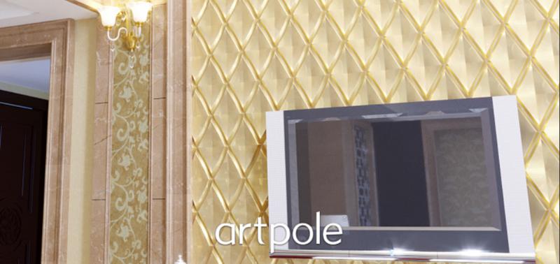 """Artpole ROMBUS - гипсовые 3D панели """"Elementary"""""""