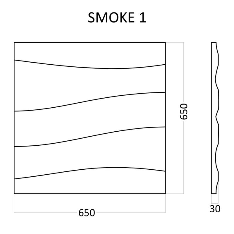 Artpole SMOKE - гипсовые 3D панели