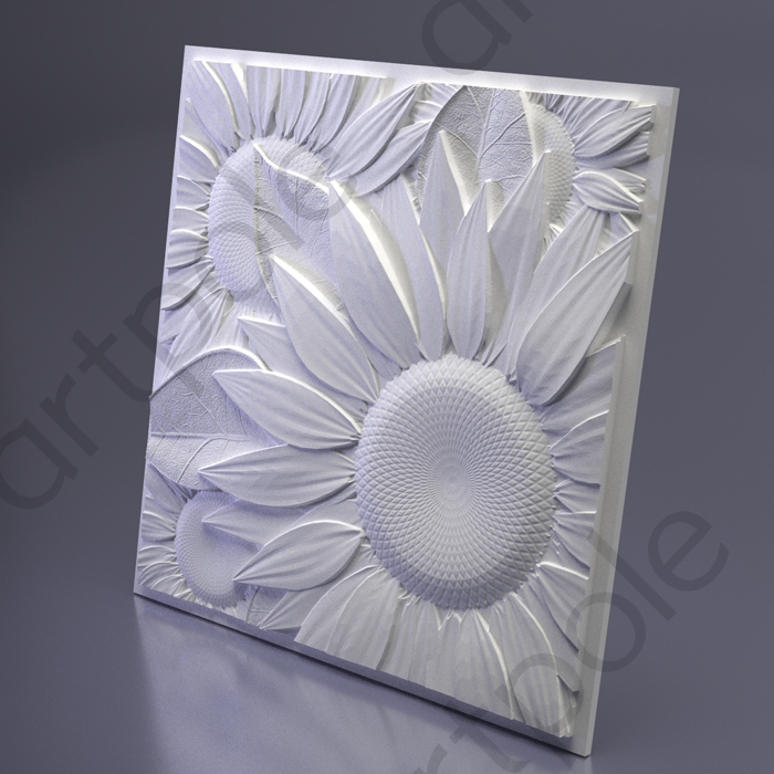 Artpole SUNFLOWER - гипсовые 3D панели