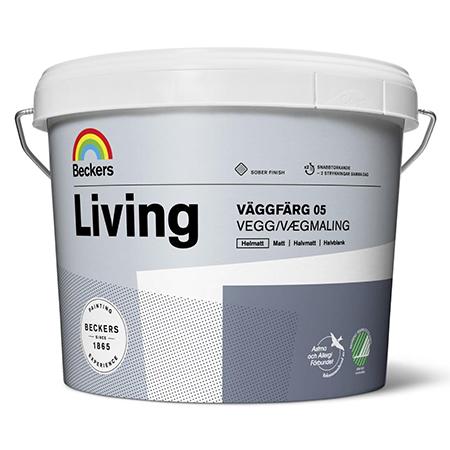 Beckers Living Vaggfarg 05 - глубокоматовая акриловая краска на латексной основе для стен и потолков