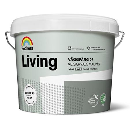 Beckers Living Vaggfarg 07 - матовая моющаяся акриловая краска на латексной основе для стен и потолков