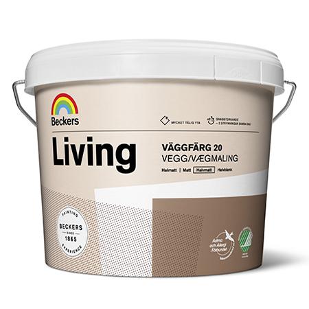Beckers Living Vaggfarg 20 - полуматовая акриловая краска для помещений с повышенной влажностью