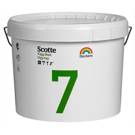 Beckers Scotte 7 - матовая водоэмульсионная латексная краска для стен и потолков