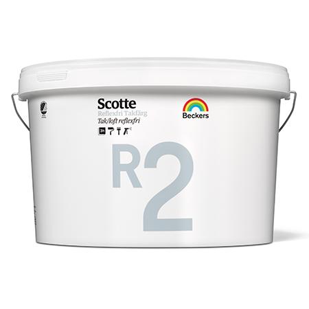 Beckers Scotte R2 Takfarg - глубокоматовая антибликовая краска для потолков и стен