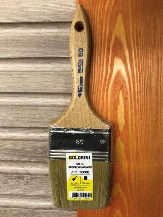 BOLDRINI 50 Pro Brush Кисть профессиональная 80x15 мм. с натуральной щетиной 70 мм.