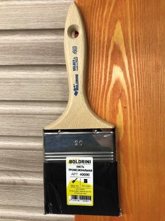 BOLDRINI 40 Pro Brush Кисть профессиональная 90x15 мм. с натуральной чёрной щетиной 70 мм.