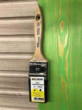 BOLDRINI 40 Pro Brush Кисть профессиональная 50x15 мм. с натуральной чёрной щетиной 64 мм.