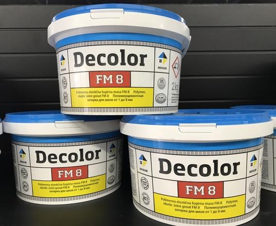 DECOLOR DECOLOR FM 8 Полимерцементная затирка для заполнения межплиточных швов шириной от 1 до 8 мм