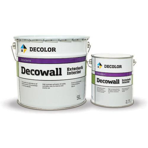 DECOLOR Decowall exterior & interior - высокопрочная супермоющаяся краска для наружных и внутренних работ