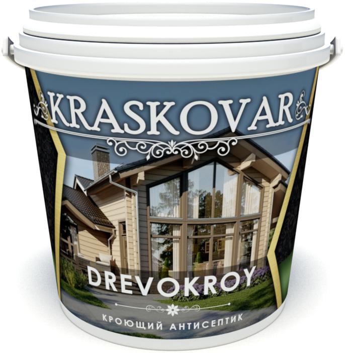 Антисептик кроющий Kraskovar Drevokroy Красковар Древокрой База С (под колеровку в насыщенные тона)