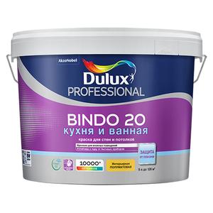 Dulux Bindo 20 Кухня и ванная - полуматовая краска для стен и потолков