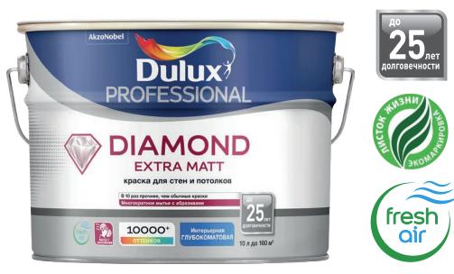 Dulux Diamond Extra Matt | Дюлакс Даймонд Экстра Мат глубокоматовая краска для стен и потолков износостойкая