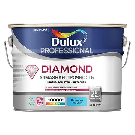 Dulux Professional Diamond Алмазная прочность - матовая антивандальная экстрастойкая акриловая краска