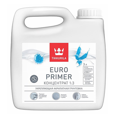 Tikkurila Euro Primer / Евро Праймер акриловый грунт-концентрат