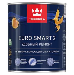Tikkurila Euro Smart 2 / Тиккурила Евро 2 глубокоматовая краска интерьерная
