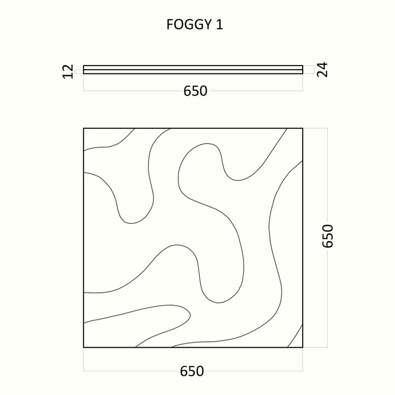 Artpole FOGGY - гипсовые 3D панели