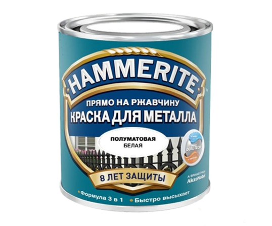 """Эмаль Hammerite Satin / Хамерайт Сатин """"Прямо по ржавчине"""" полуматовая"""