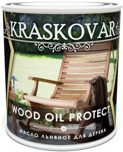 Масло льняное для дерева Kraskovar Wood Oil Protect Красковар Вуд Оил Протект