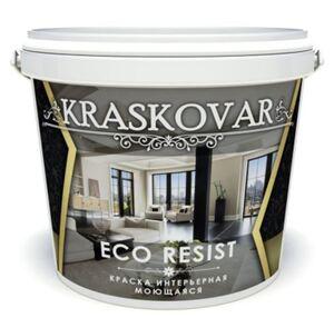 Краска интерьерная Kraskovar ECO RESIST Красковар Эко Резист влагостойкая, моющаяся