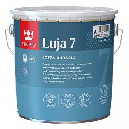 Tikkurila Luja 7 / Тиккурила Луя 7 матовая краска повышенной износостойкости, выдерживает контакт с водой, содержит противоплесневый компонент