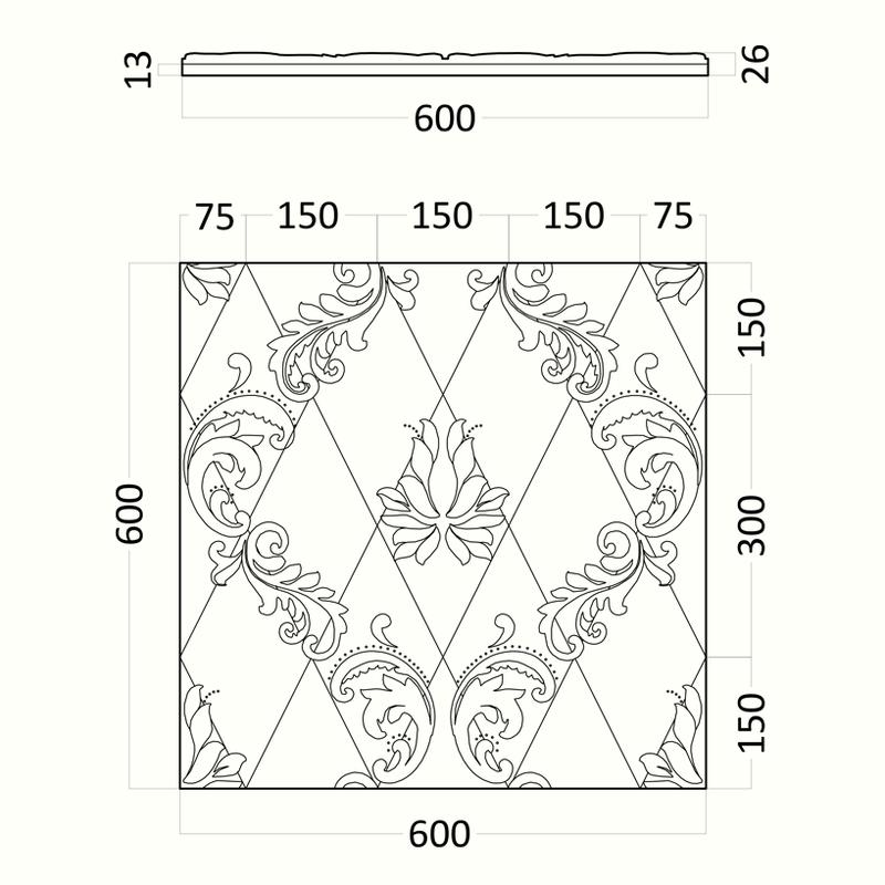 Artpole MARSEILLE - гипсовые 3D панели