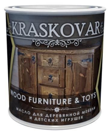 Масло Kraskovar Wood Furniture & Toys для мебели и детских игрушек, бесцветный 0,75л