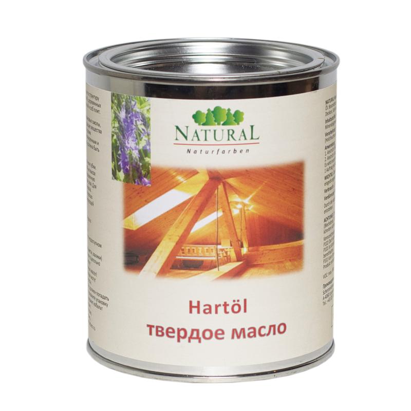 Natural Hartol твёрдое масло, глубоко проникающее в структуру древесины, для внутренних помещений