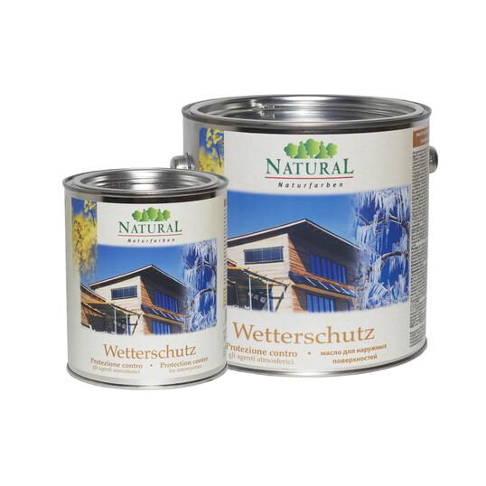 Natural Wetterschutz масло для покрытия наружных древесных поверхностей