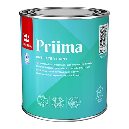 Tikkurila Priima / Тиккурила Прима глубокоматовая краска для интерьеров однослойная