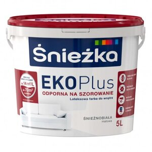 Sniezka EKO Plus / Снежка ЭКО Плюс - моющаяся стойкая акриловая матовая краска