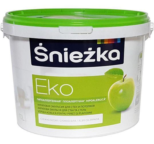 Sniezka EKO / Снежка ЭКО - гипоаллергенная акриловая матовая краска для стен и потолков