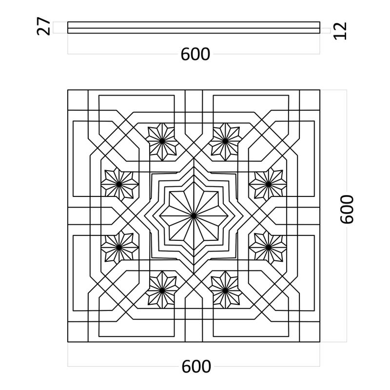 Artpole SULTAN + стекло - гипсовые 3D панели
