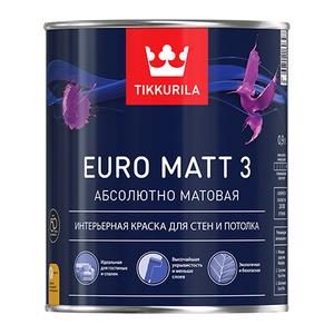 Tikkurila Euro Matt 3 / Тиккурила Евро Мат 3 краска глубокоматовая латексная