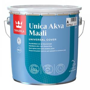 TIKKURILA UNICA AKVA MAALI краска акрилатная для окон и дверей, полуглянцевая