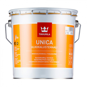 TIKKURILA UNICA краска алкидная для металла, дерева и пластика, полуглянцевая