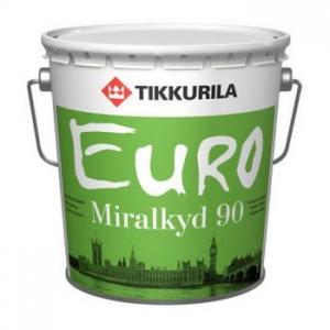 TIKKURILA EURO MIRALKYD / PESTO 90 высокоглянцевая стойкая эмаль