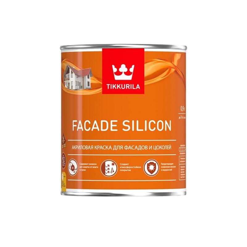 Tikkurila Facade Silicon / Тиккурила Фасад Силикон глубокоматовая акриловая краска для фасадов и цоколей