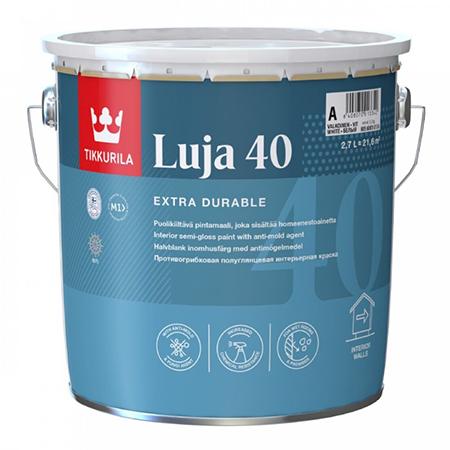 Tikkurila Luja 40 / Тиккурила Луя 40 экстра-стойкая полуглянцевая интерьерная краска