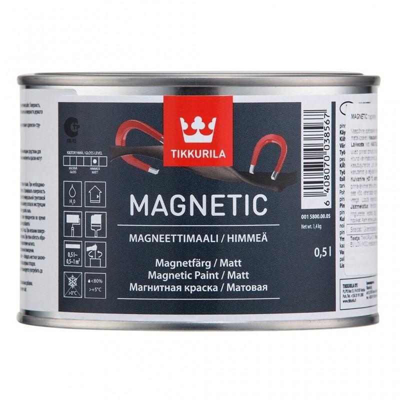 Tikkurila Magnetic / Тиккурила Магнетик матовая краска для создания магнитного покрытия на стене
