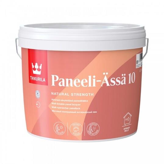 TIKKURILA PANEELI ASSA 10 лак интерьерный колеруемый для стен и потолков, матовый