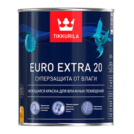 Tikkurila Euro Extra 20 / Тиккурила Евро Экстра 20 полуматовая краска для влажных помещений