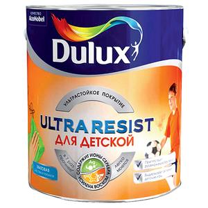 Матовая краска для стен и потолков Dulux Ultra Resist   Дюлакс Ультра Резист для Детской