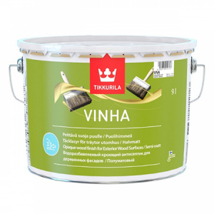 Tikkurila Vinha / Тиккурила Винха кроющий антисептик для древесины водорастворимый